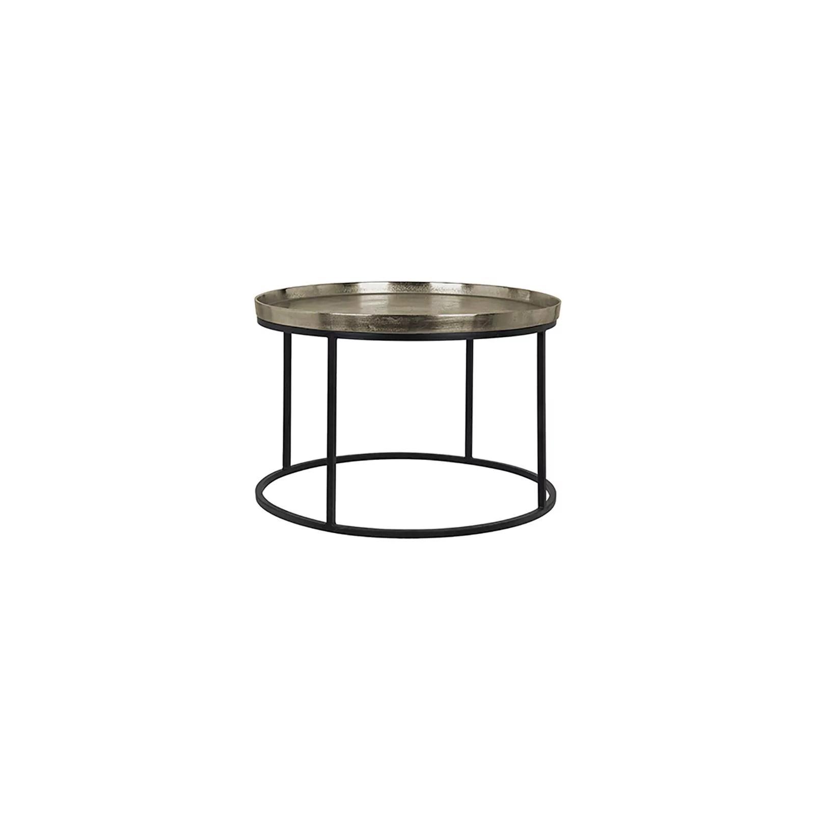 table basse ronde champagne meknes aluminium et metal