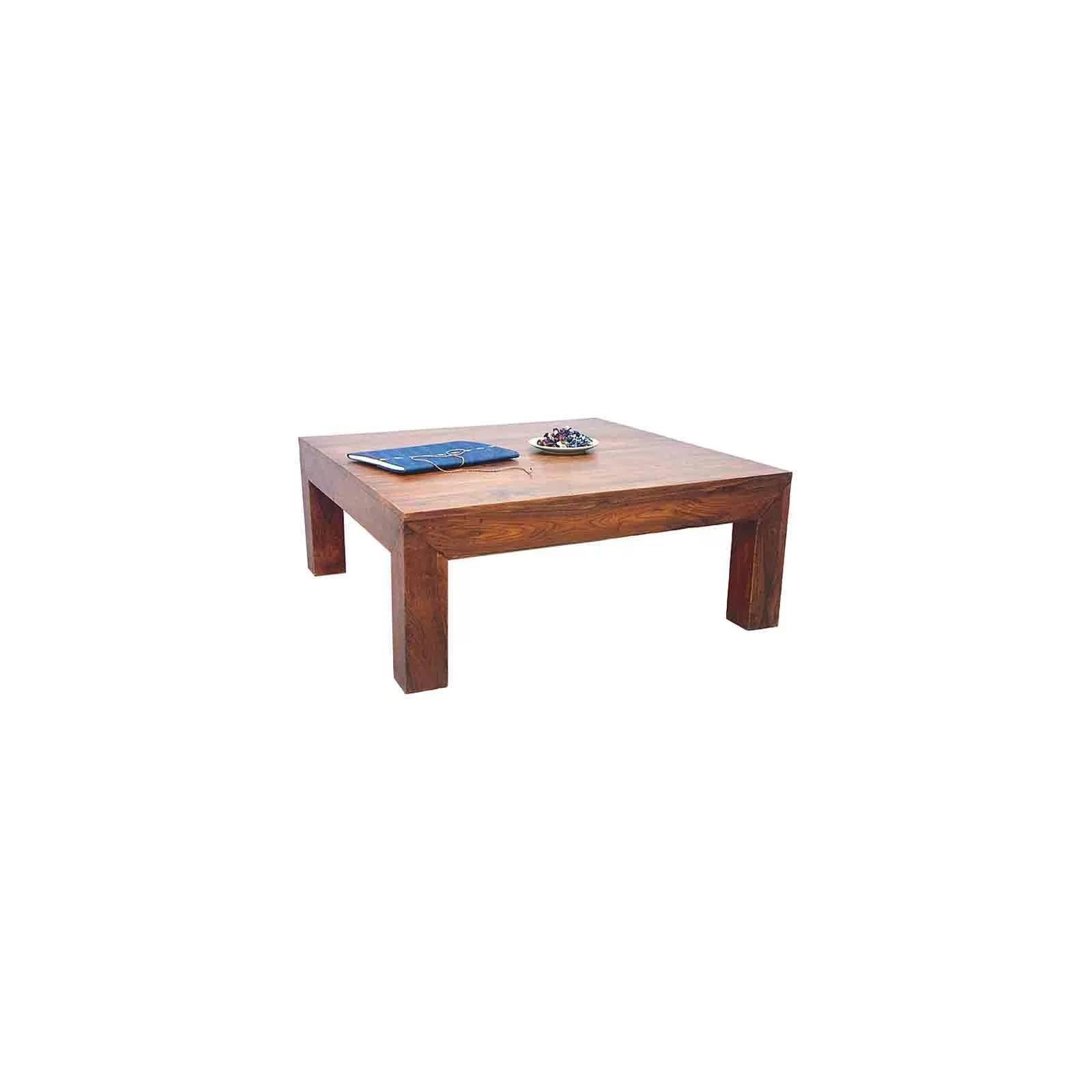 table basse carree palissandre zen 100