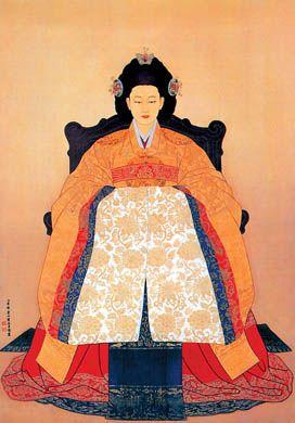 ill. 4. Portrait contemporain de la reine Min / l'impératrice Myeongseong (명성 황후, 1851-1895), Kwon O-Chang (권오창)