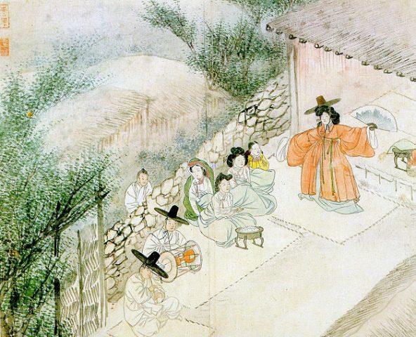 ill. 7. La chamaine qui célèbre le rituel gut (굿),