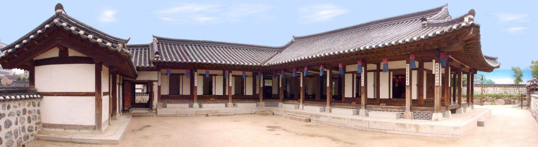 L'un des hanok dans le village Namsangol Hanok qui est un complexe de cinq hanok, restaurés et délocalisés à Namsan, datant de l'époque de Joseon.
