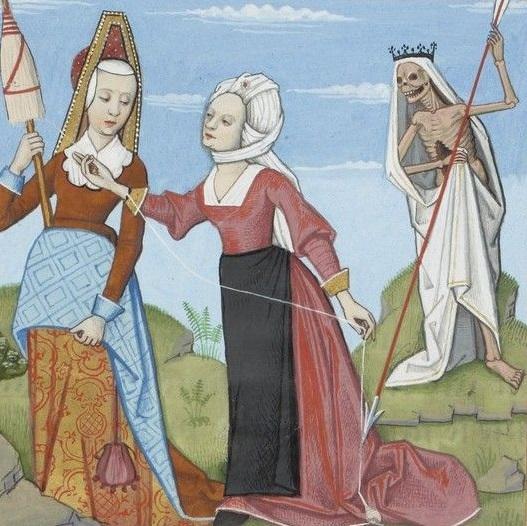 Moires dans Le Livre des échecs amoureux moralisés, Évrart de Conty, ca. 1400