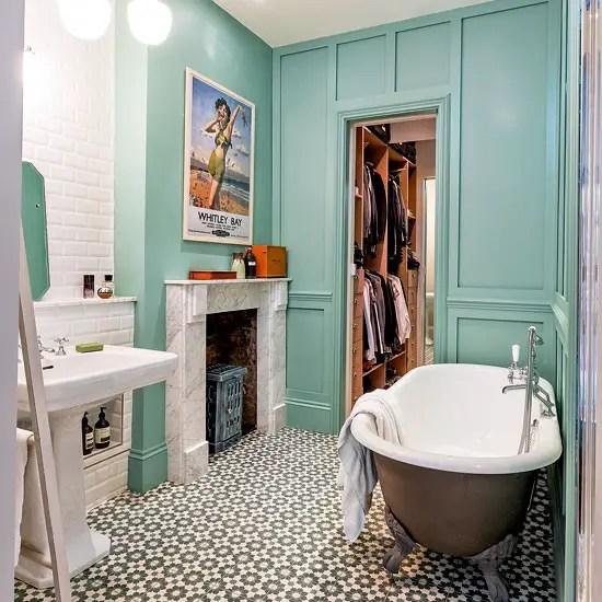 Style Great Gatsby Dans La Salle De Bain: Un Appartement éclectique à Londres