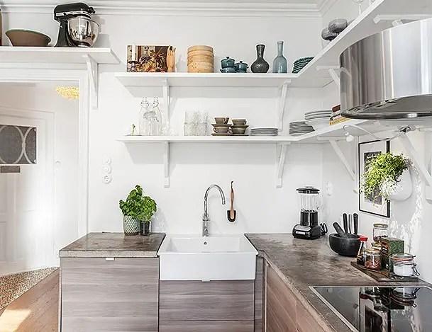 Les petites surfaces du jour : la cuisine prend toute sa place ...