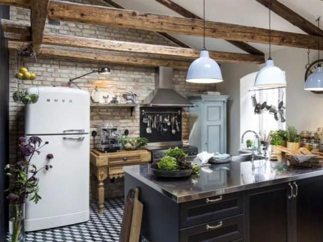 une cuisine rustique et scandinave planete deco a homes world bloglovin. Black Bedroom Furniture Sets. Home Design Ideas