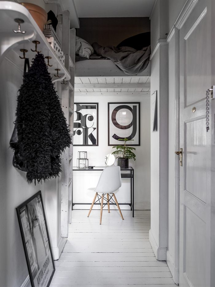 ... The Decoration Is Typical Of The Neutral Scandinavian Interiors, With  Black And White, And The Kitchen Surface Is Reduced To A Minimum, ...