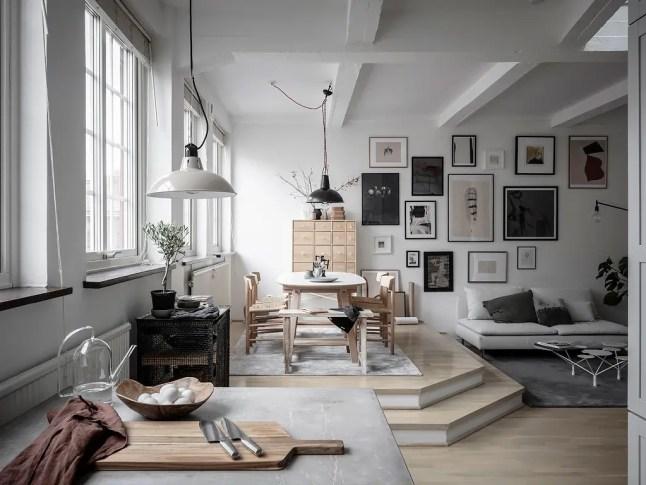 Un appartement loft sur trois niveaux