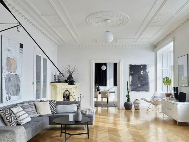 Un appartement suédois aux lignes classiques et au mobilier design