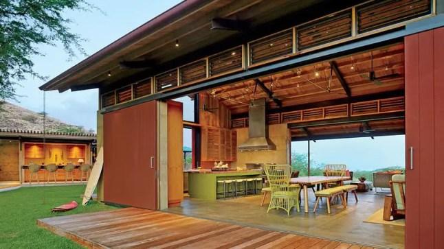 Une maison de vacances en bois à Hawaï