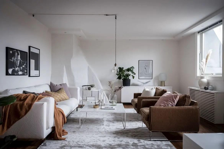 Design simple et scandinave dans un appartement citadin