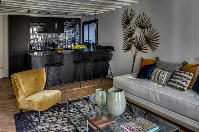 un appartement parisien la d coration boh me chic planete deco a homes world. Black Bedroom Furniture Sets. Home Design Ideas