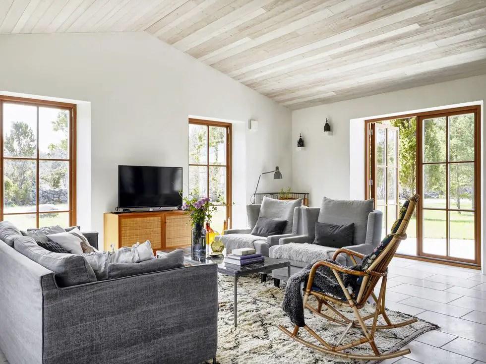 Une décoration simple pour une maison de vacances en Suède