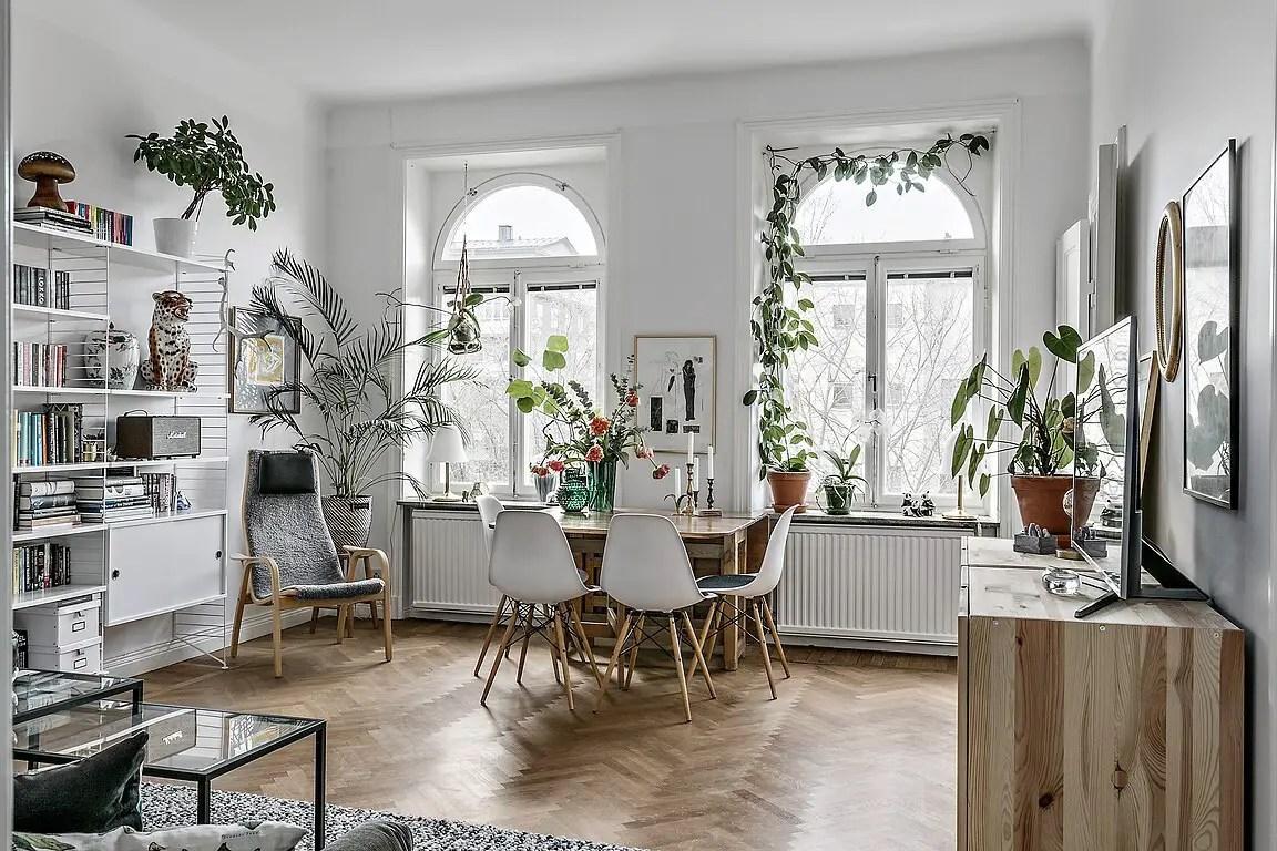 Une décoration intérieure basée sur les plantes dans deux appartements