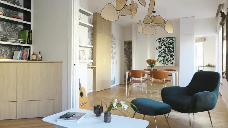 Un petit appartement design à Paris aux volumes équilibrés
