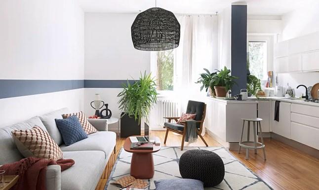 Un appartement restylé en bleu pour un père célibataire et son fils