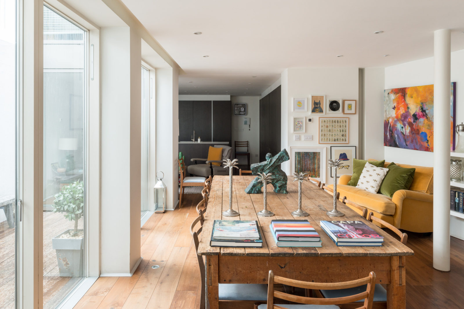 Une maison d'architecte avec patio à Londres
