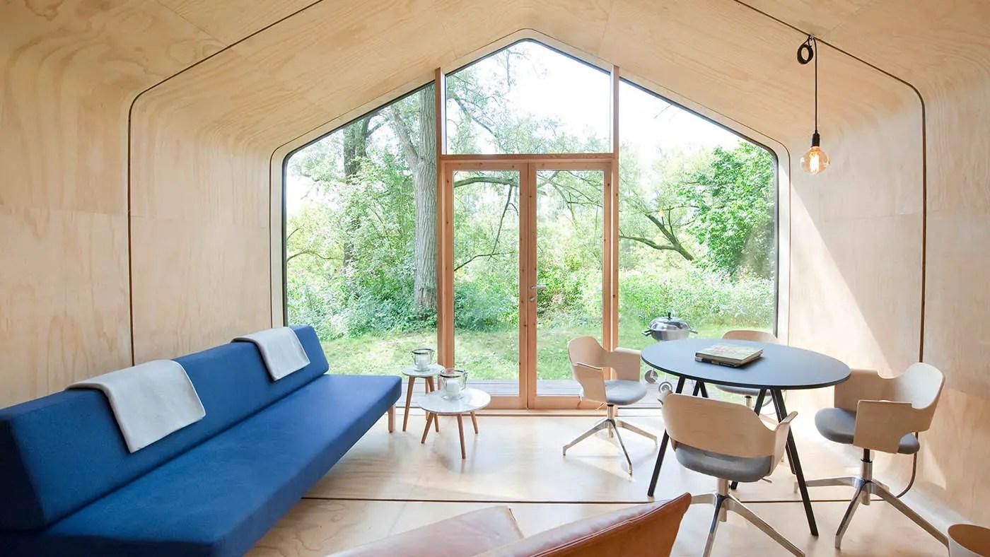 Une maison design, modulaire, écologique et en carton