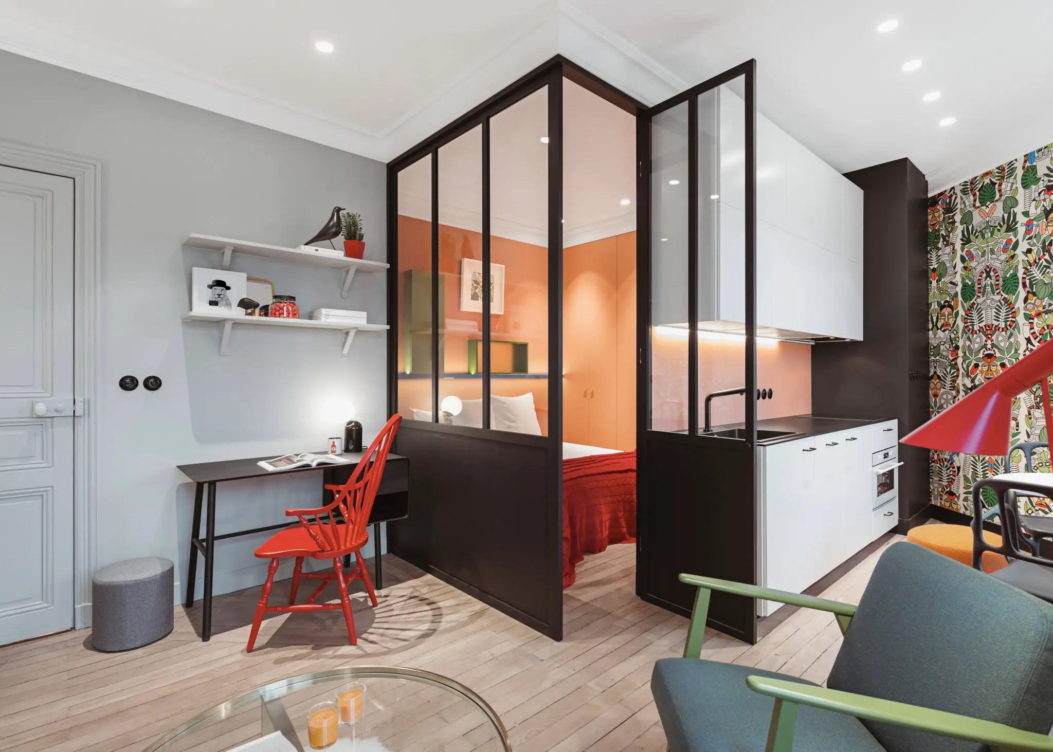 Cet appartement de 35m2 bénéficie d'une nouvelle distribution et d'une belle personnalité depuis sa rénovation