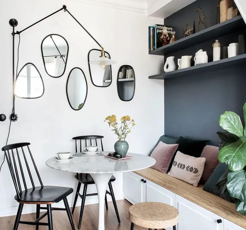 Cet appartement de deux-pièces de 30m2 à Paris a été entièrement repensé par une designer