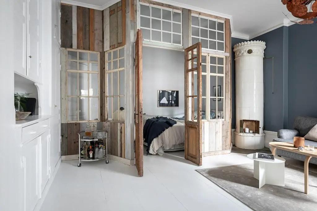 Comment créer une chambre dans un grand studio avec du bois de récupération? - PLANETE DECO a homes world