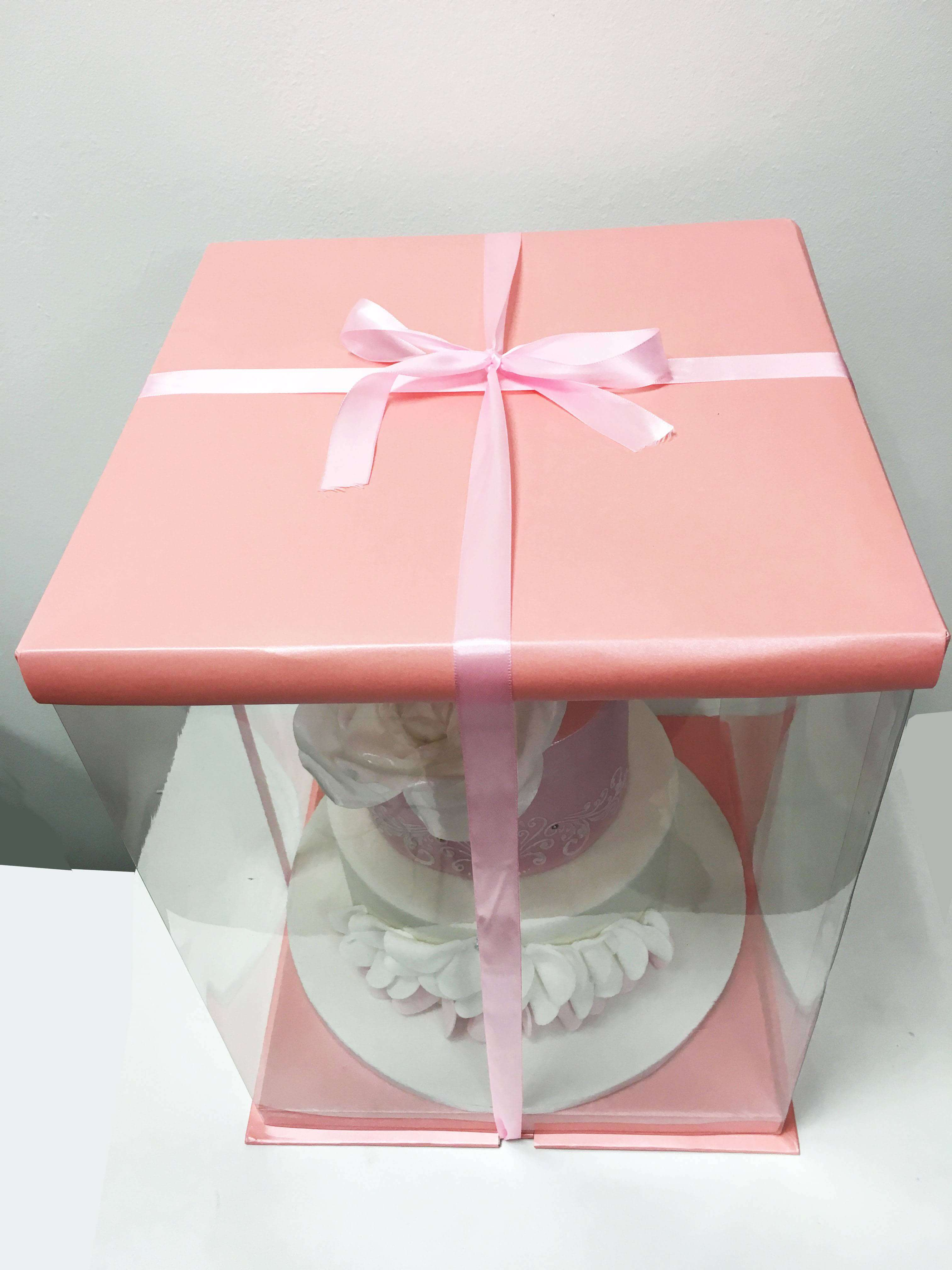 expo cake box pink cake box 30x30x40cm