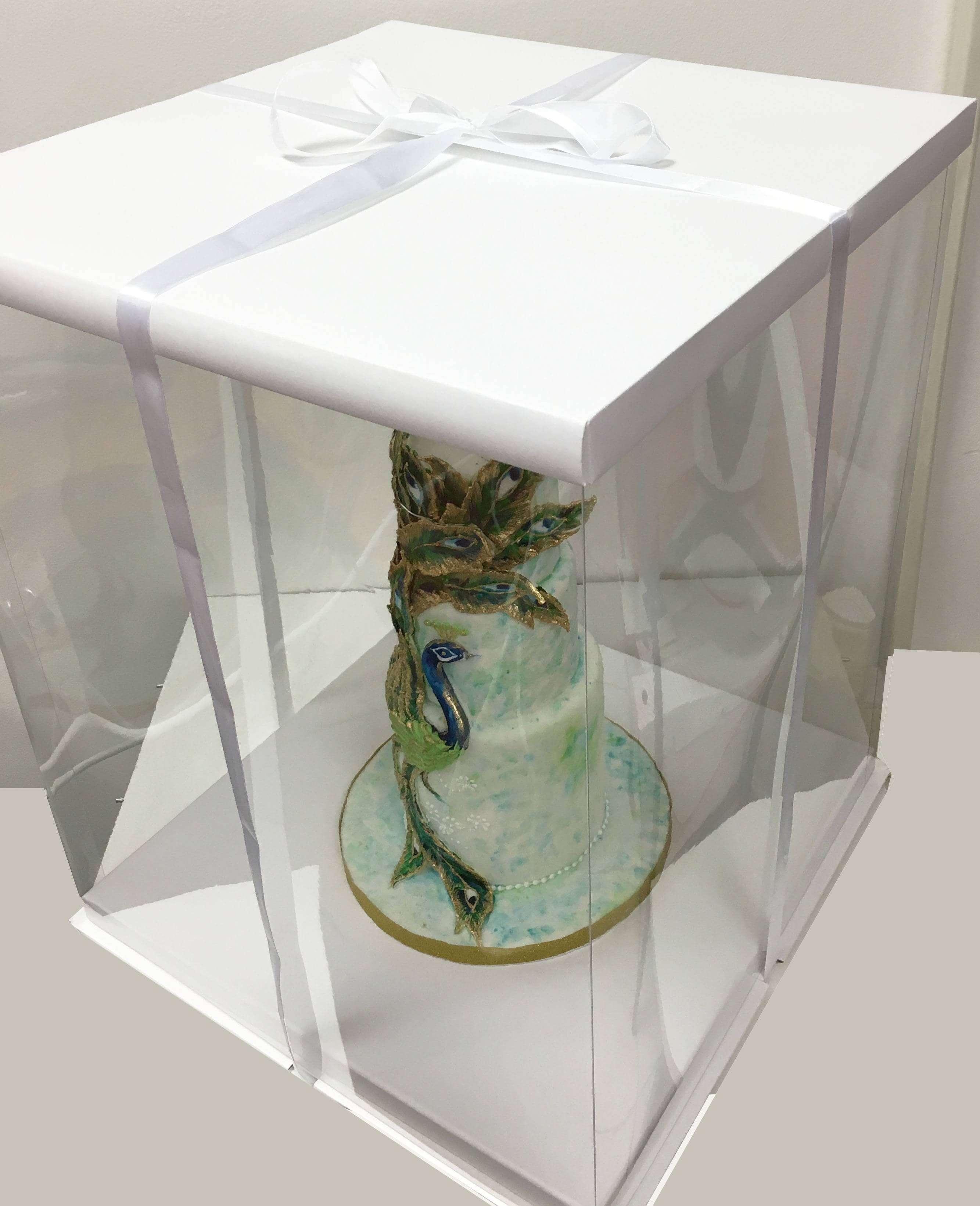 boite a gateau blanche expo cake box 40x40x50cm