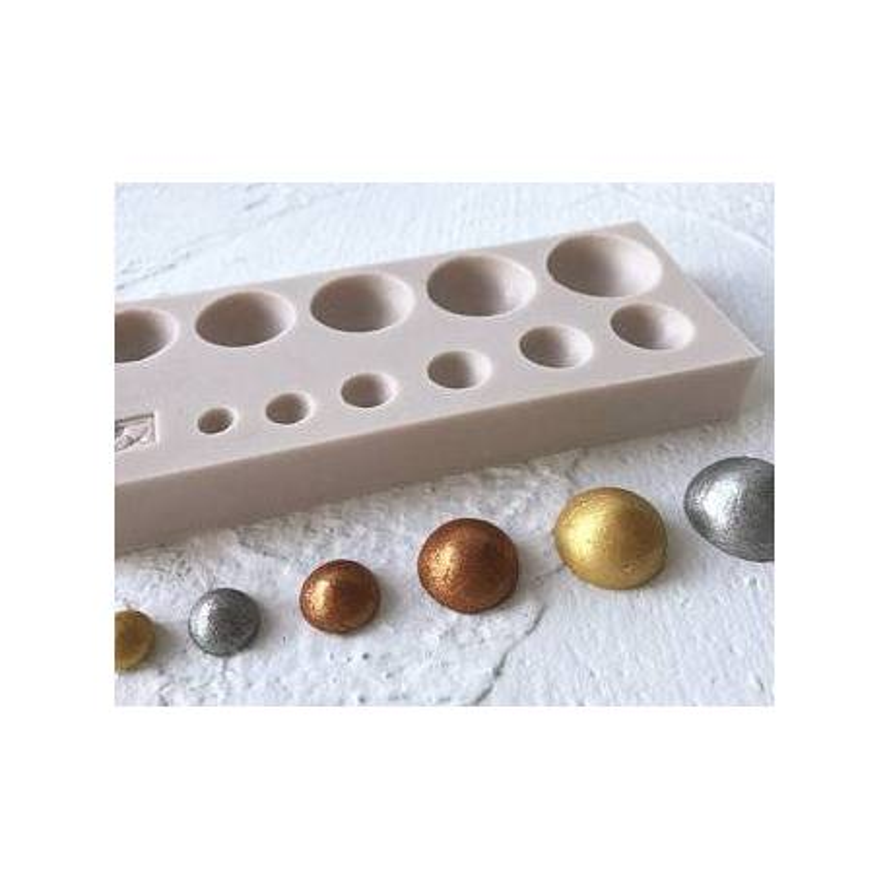 moule demi spheres boules en silicone 6 a 24mm