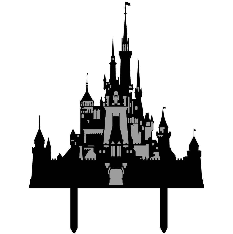 Topper Gateau Personnalise Chateau Disney Majestueux Planete Gateau