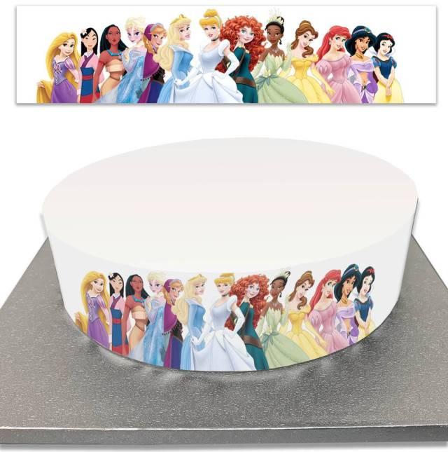 Contour de Gâteau Princesses Disney en sucre - Planète Gateau