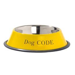 gamelle graffitti jaune pour chien bobby