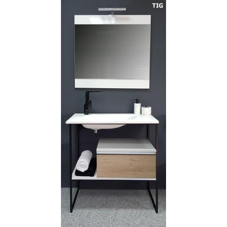 vente de meuble de salle de bain 80 cm tig style industriel