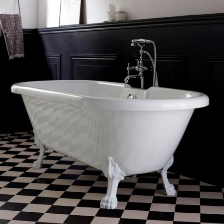baignoire ilot retro haut de gamme baignoire sur pieds pattes de lion blanc