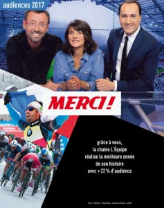 Campagne de presse L'Equipe TV Janvier 2018