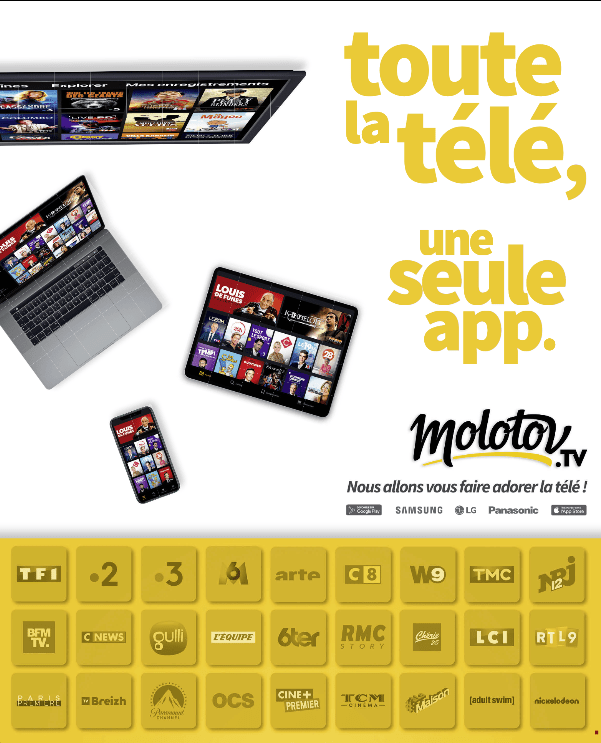 publicité application Molotov
