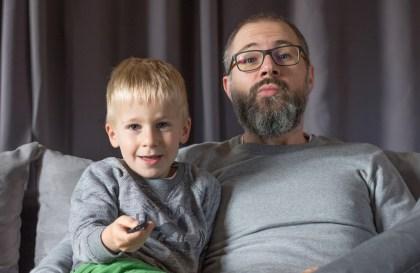 Quentin et Arthur - portrait de papa - papa gentleman