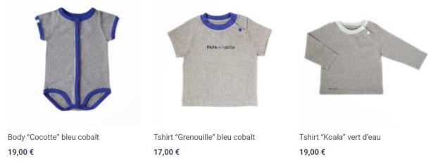 PAPA m'habille : vêtements de puericulture éco-friendly