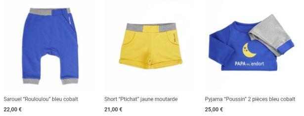 PAPA m'habille : une très belle collection de vêtements de puericulture éco-friendly