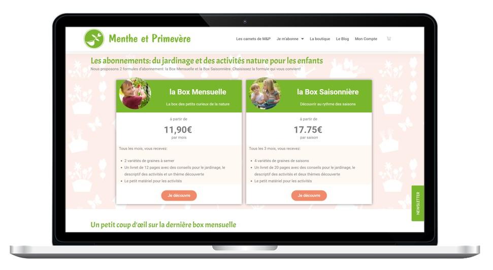 Abonnements box Menthe et Primevère - box découverte nature pour enfant