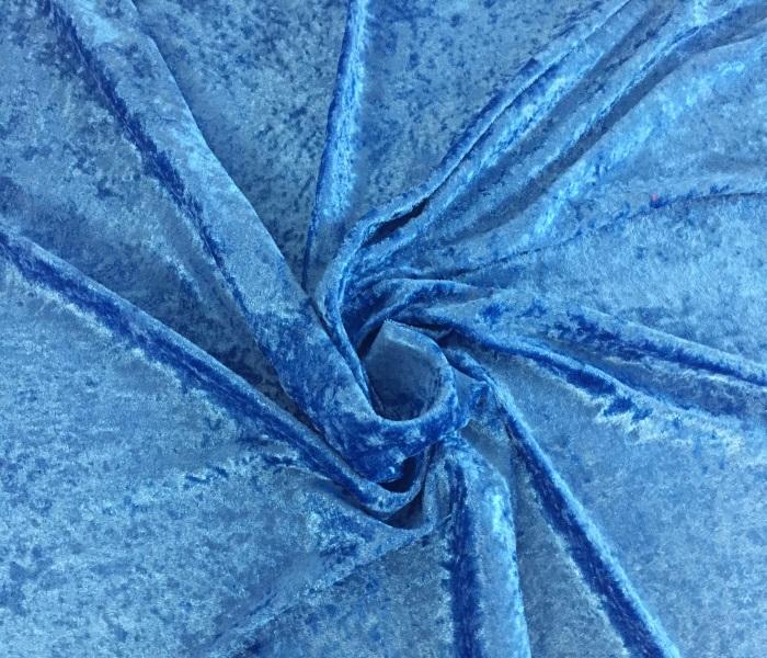 panne de velours bleu royal