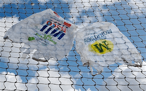 Plastic Bags in Chain Link Fence