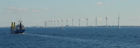 Middelgrunden, an offshore wind farm outside Copenhagen, Denmark (Image: Creative Commons)