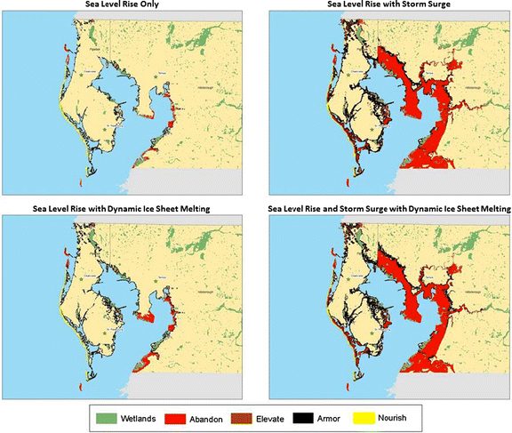 Effect of incorporating storm surge in economic impact estimates for Tampa, Florida (Source:  The Journal of Climatic Change)