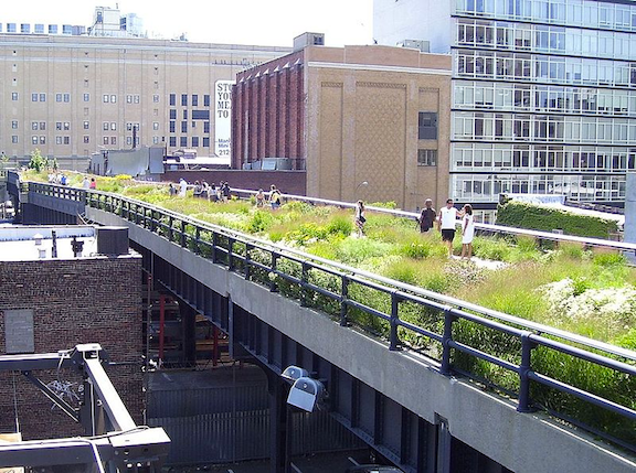 Highline Park where it crosses 20th Street