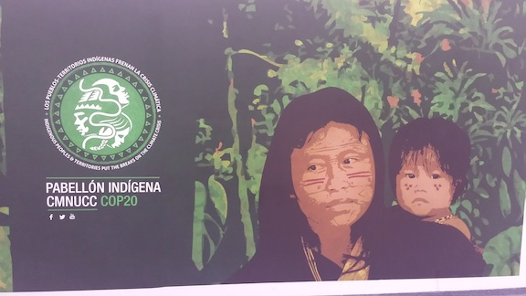 The Indigenous People's Pavilion at the COP20 (Image Credit: Mythili).