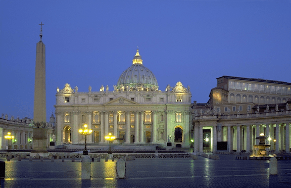 St. Peter's Basilica in Rome, the seat of the Catholic church (Source: Creative Commons)
