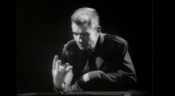 Screenshot from the film 1984 (1956)