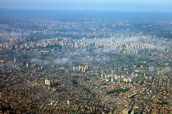 Aerial photograph of Sao Paulo Brazil, 2010 (Image: WikiMedia Commons)