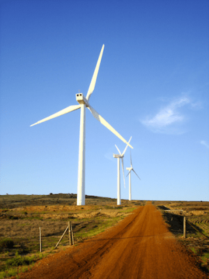 Windmills, a zero-emission form of energy. (Source: Creative Commons)