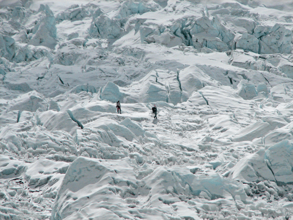 Climbers on the Khumbu Icefall (Image Credit: McKay Savage)