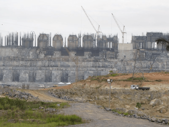 Belo Monte's powerhouse. (Image Credit: Amazon Watch)